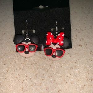 Disney Mickey And Minnie Sunglasses Earrings